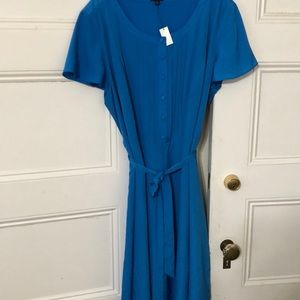 Talbots Short Sleeved Blue Dress